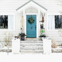 Front door paint color: Night Scape by Valspar The Wicker House   Related Stories St. Lucia Teal Exterior Colonial Paint Colors Hale Navy Exterior