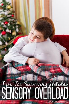 Tips for surviving Sensory Overload during the holidays! These tips are perfect for remembering with kids in my class during holiday parties