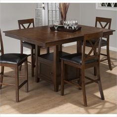 Counter Height Rectangle Dining Table in Olsen Oak