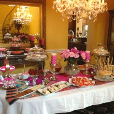 Bunco Party Pretty in Pink Buffet