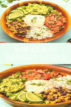 #How #to #cook #beans #black #glutenfree These vegan burrito bowls are the best thing ever Packed with black beans and corn cilantro lime rice pico de gallo guacamole and vegan sour cream Extremely satisfying  brp classfirstletterThe powerful photograph We Offer You About satisfyingpCharacteristic of The Pin These vegan burrito bowls are the best thing ever Packed with black beans and corn cilantro lime brThe pin registered in the Black board is selected from among the pins with high… Vegan Mexican Recipes, Vegan Dinner Recipes, Whole Food Recipes, Vegetarian Recipes, Vegan Recipes With Rice, Vegan Foods, Vegan Dishes, Vegan Meals, Burritos