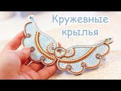 """Колье """"Кружевные крылья"""" из полимерной глины_Necklace """"Lace Wings"""" from polymer clay"""