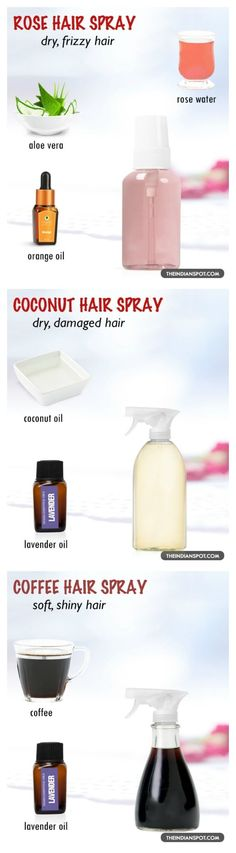 Get shiny and soft hair with these DIY sprays