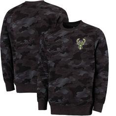 9afd0675 Milwaukee Bucks Fanatics Branded Modern Camo Crew Neck Sweatshirt - Black