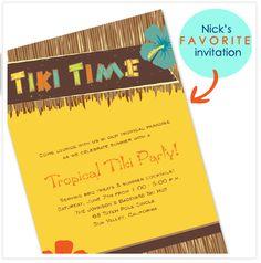 nick's favorite invitation - tiki party