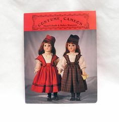 Vtg Doll Pattern Little Girls Costume Hazel Ulseth Helen Shannon 14 16 inch NOS