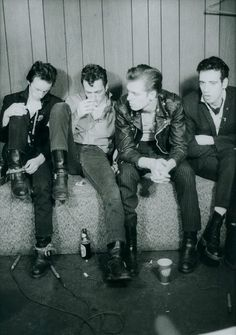 Love this black and white group photo of The Clash.
