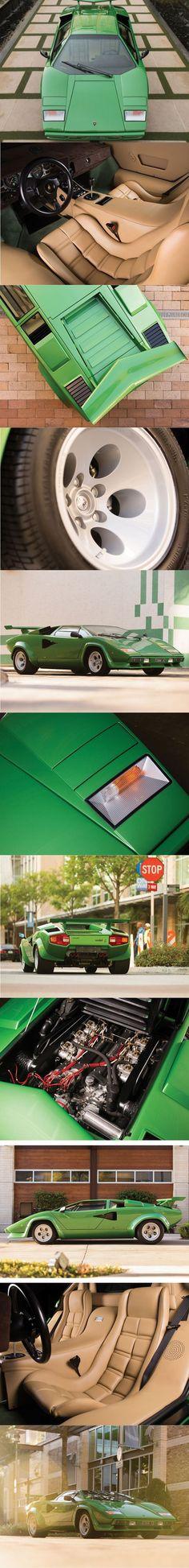 1978 Lamborghini Countach LP400 S / Italy / green / 350 hp / 82 manufactured / www.autovisie.nl / Bertone Marcello Gandini #lamborghinivintagecars