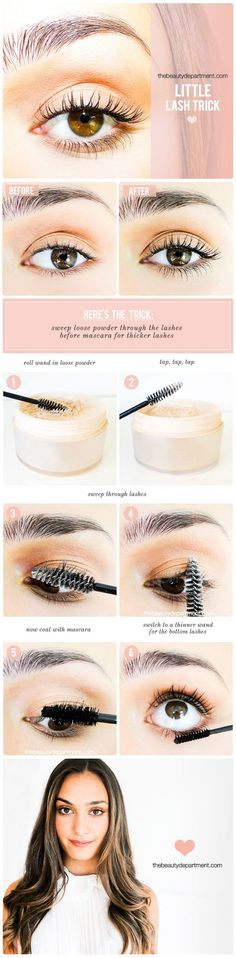 How to get thicker lashes! #makeup #beauty #hack