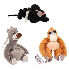 Jungle Book 158765: Disney Jungle Book Set Of 8 Plush Bean Bags With King Louie, Baloo -> BUY IT NOW ONLY: $41 on eBay!