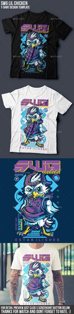 SWG Lil Chicken T-Shirt Design Vector EPS, Transparent PNG, AI Illustrator. Download here: https://graphicriver.net/item/swg-lil-chicken-tshirt-design/17561037?ref=ksioks
