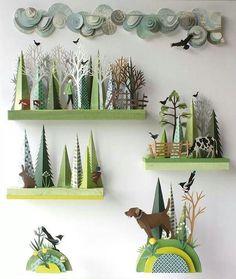 Paper tree scenes