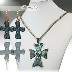 Cowgirl Bling Ranch, LLC - Patina Cross and Earring Set with Heart and Studs, $11.99 (http://www.cowgirlblingranch.com/products/patina-cross-and-earring-set-with-heart-and-studs.html)