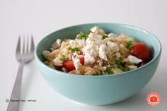 Een heerlijke Griekse salade met orzo