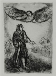 """3 Works: 3 sheets from """"Bible"""" By Marc Chagall ,1956"""