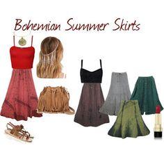 boho chic: Clothing for Womens Summer Skirts, Summer Dresses, Bohemian Summer, Ancient Greek Sandals, Indie Fashion, Skirt Fashion, Kaftan, Boho Chic, Chic Clothing