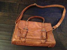 Top Shop Tan Leather School Boy Messenger Bag | eBay