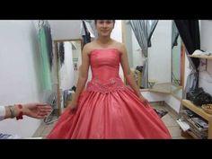 Vestido de XV años, paso a paso, parte 2. Trazo de basico straples - YouTube