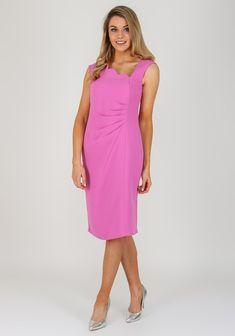86ede77407 Michaela Louisa Scallop Neckline Dress, Pink   McElhinneys