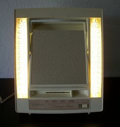 SOLD!!! Vintage 1970s General Electric 4 Setting Lighted Makeup Mirror, SOLD!!!