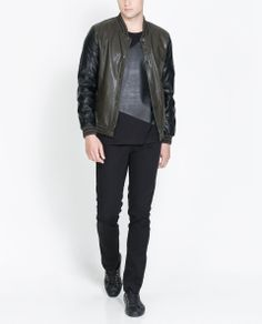 f15ff9e1 Zara FAUX LEATHER JACKET WITH KNITTED COLLAR Ref. 4341/300 99.90 CAD OUTER  SHELL