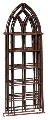 Gothic arch iron window frame - $675.