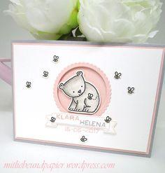 Stampin' Up Tierische Glückwünsche Karte Geburt