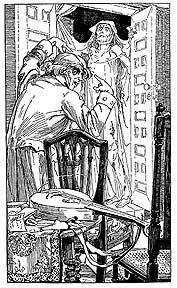 Illustration by Alice B. Woodward for The Fall of the House of Usher, 1903
