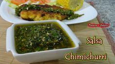 SALSA CHIMICHURRI la original - receta en español, molho chimichurri sub...