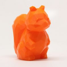 Download on cults3d.com #3Dprinting 3D Low Poly Squirrel, RubixDesign