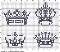 Brilliant Cross Stitch Embroidery Tips Ideas. Mesmerizing Cross Stitch Embroidery Tips Ideas. Cross Stitch Freebies, Cross Stitch Charts, Cross Stitch Designs, Cross Stitch Patterns, Cross Stitching, Cross Stitch Embroidery, Embroidery Patterns, Crown Pattern, Knitting Charts