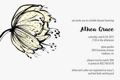 Graphic Bloom Bridal Shower Invitations