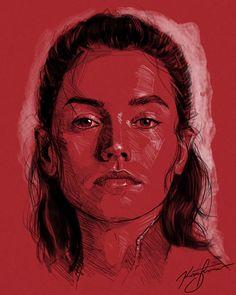 Amazing Illustration of Star Wars: The Last Jedi 9 #illustration #digitalart #posters #starwar #thelastjedi #portrait #drawing #painting