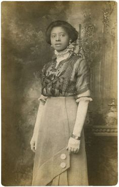 Beautiful Black Edwardian Lady - Rare Old Photo! - The Graphics Fairy