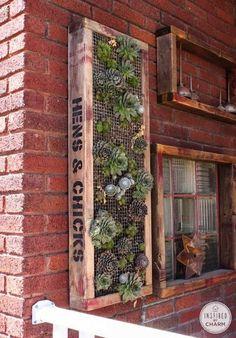 Garden Decor: Vertical Succulent Garden