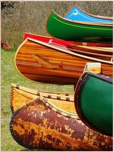Canoes as art.  This would make a great print.