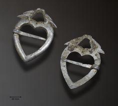 Hjertesprette i sølv, ant. rundt 1860. Funnet i Karmøy kommune av Anders Eiken 2017.