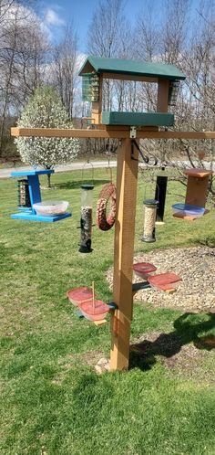 Suet Bird Feeder, Bird Feeder Plans, Bird House Feeder, Bird Feeding Table, Bird Feeding Station, Platform Bird Feeder, Backyard Birds, Garden Birds, Shelled Peanuts