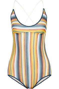 MISSONI Crochet-Knit Swimsuit. #missoni #cloth #swimsuit