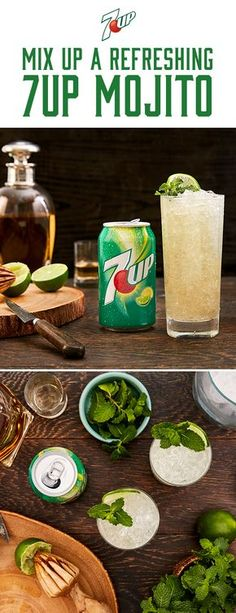 Mix up a 7UP Mojito, made with 7UP®, today. Mix freely, drink responsibly.