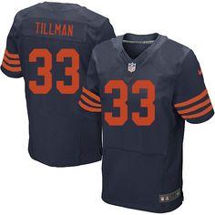 129.99 Men s Nike Chicago Bears  33 Charles Tillman Elite Navy Blue 1940  Throwback Alternate Jersey bc35106ce