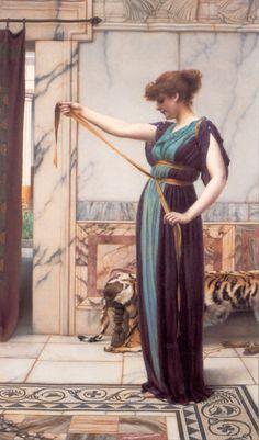 Dame de Pompeï - John William Godward (1861-1922)