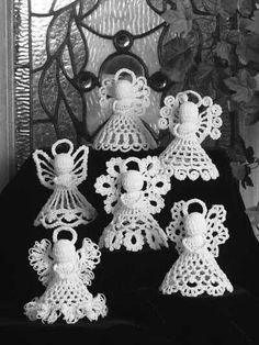 Crochet angels with pattern