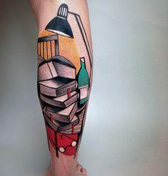 Los tatuajes cubistas de Peter Aurisch   OLDSKULL