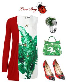 """""""Cute as a lady""""bug"""""""" by im-karla-with-a-k on Polyvore featuring Dolce&Gabbana, WearAll and Moschino"""