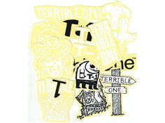 """Order Terrible One """"Black/White"""" Stickerset online. Live chat and free european & worldwide shipping from above & order value now at kunstform BMX Shop & Mailorder! Bmx Shop, Bmx Parts, Black And White, Amazing, T Shirt, Color, Supreme T Shirt, Tee Shirt, Black N White"""