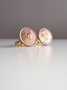 1942 Coin Cufflinks British 1942 farthing by MyFayreFavourite