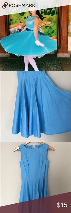 Dapper Robin Blue 50's style dress 50's Style dress size small/medium Dresses