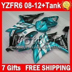 Купить товар7 подарки для YAMAHA голубой белый YZFR6 2008 2009 2010 2011 2012 P97218 YZF R6 YZF R6 голубой черный blk 08 09 10 11 12 YZF600 обтекателя в категории Щитки и художественная формовкана AliExpress.                              Удостоверение личности aliexpress: MotoGP