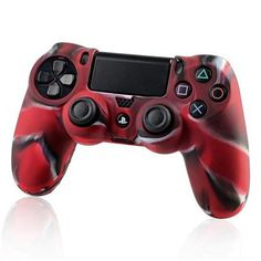 Wal-Mart.com USA LLC -Insten 4x Camouflage Navy Red Skin Case Cover for Sony PlayStation 4 PS4